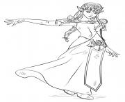 princesse zelda par Nintendo Capcom dessin à colorier
