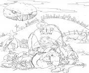 zombie chien skippy dessin à colorier