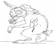 lapin zombie animal dessin à colorier