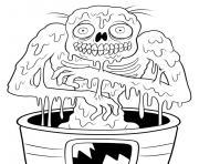zombie comportement violent dessin à colorier