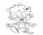 enfant zombie bebe dessin à colorier