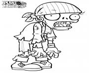 plant zombie dessin à colorier