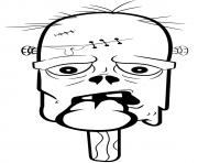 zombie creme glace dessin à colorier