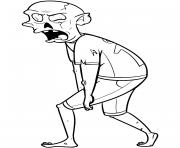 zombie monstre violent dessin à colorier