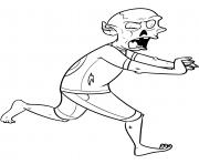 court zombie dessin à colorier