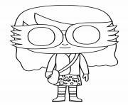 Luna Lovegood Funko Pop dessin à colorier