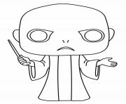 Voldemort Funko Pop dessin à colorier
