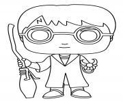 Harry Potter Balai Funko Pop dessin à colorier