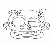 tete de zombie dessin à colorier