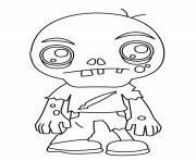 zombi sans dents dessin à colorier