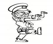 zombi policier en service dessin à colorier