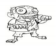 zombie grand pere dessin à colorier