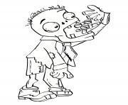 zombie mange des friandises dessin à colorier