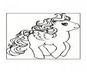 poney aile de princesse dessin à colorier