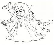 Coloriage fille vampire halloween