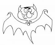 chauve souris diable dessin à colorier