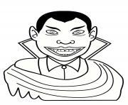 vampire se nourrit de chair dessin à colorier