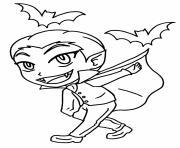 vampire garcon joyeux dessin à colorier