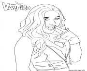 Coloriage vampire de profil mefiant dessin