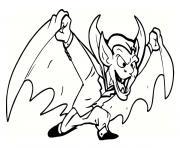 diable et vampire dessin à colorier