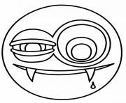 emoji vampire dessin à colorier