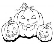 halloween citrouille cucurbita pepo subsp dessin à colorier