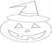 citrouille heureuse de la famille des Cucurbitaceae dessin à colorier