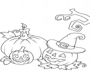 Coloriage halloween citrouille jack o lanterns
