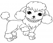 belle chienne catellus dessin à colorier