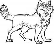 chien husky avec de beaux traits dessin à colorier