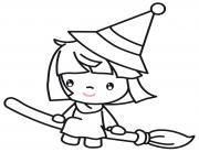 l apprentie sorciere dessin à colorier