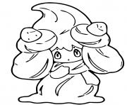 pokemon epee et bouclier charmilly dessin à colorier