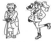pokemon epee et bouclier les habitants de galar professeure magnolia et sonya dessin à colorier