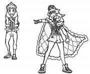 pokemon epee et bouclier les habitants de galar tarak et nabil dessin à colorier