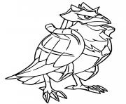 pokemon epee et bouclier corvaillus dessin à colorier