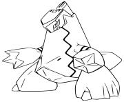 pokemon epee et bouclier duralugon dessin à colorier