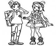pokemon epee et bouclier les habitants de galar personnages principaux dessin à colorier