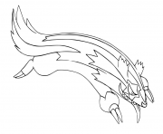 pokemon epee et bouclier formes de galar lineon de galar dessin à colorier