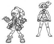 pokemon epee et bouclier les habitants de galar faiza et alister dessin à colorier