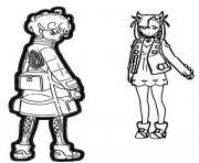 pokemon epee et bouclier les habitants de galar rosemary et travis dessin à colorier