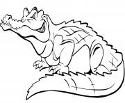 Coloriage crocodile du nil de profil dessin