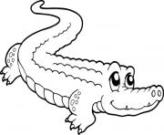 Coloriage crocodile mignon
