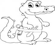 Coloriage Crocodile Dessin Crocodile Sur Coloriage Info