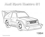 Audi Sport Quattro S1 1984 dessin à colorier