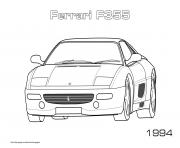 Ferrari F355 1994 dessin à colorier