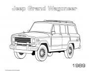 Jeep Grand Wagoneer 1989 dessin à colorier