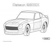 Datsun 280zx 1980 dessin à colorier