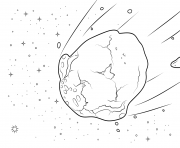Coloriage asteroid
