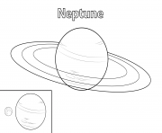 neptune planete dessin à colorier