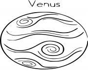 planete venus dessin à colorier